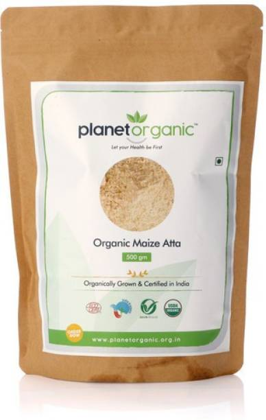 Planet Organic India Organic Maize Flour - 500 gm