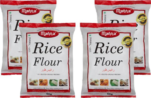 Manna Rice Flour 4kg (1kg x 4 packs) | 100% Natural | Rich in Carbohydrates and B Vitamins