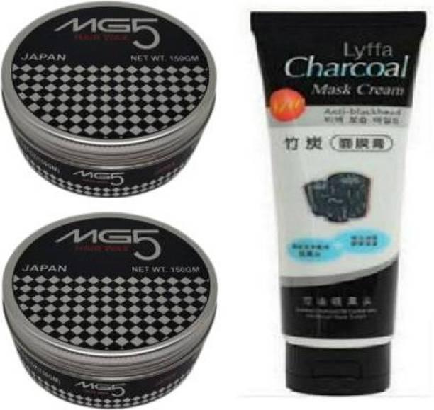 SRCJ SRCJMG5 MEN HAIR GEL 150gm ( HAIR WAX ) PACK OF 2 WITH CHARCOAL TUBE Hair Gel