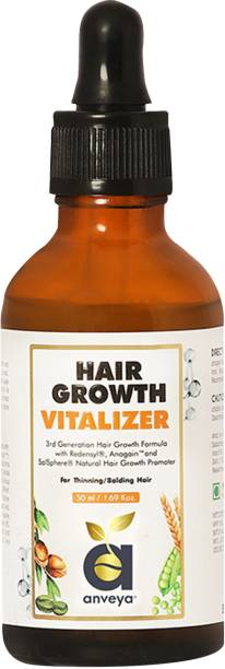Anveya Hair Growth Vitalizer Serum, for Hair Fall - Men & Women