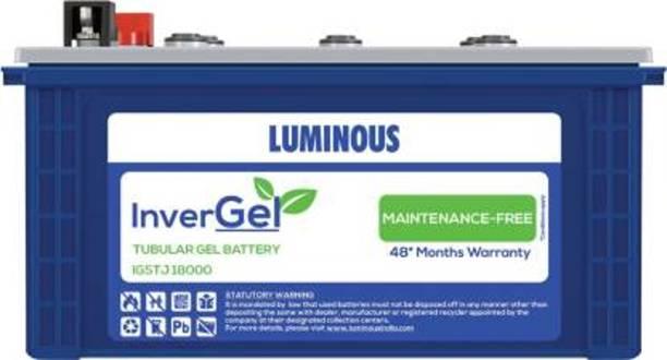 LUMINOUS Zelio +1100 + InverGel IGSTJ 18000 150 Ah Gel Tubular Battery + Trolley TX100L Tubular Inverter Battery