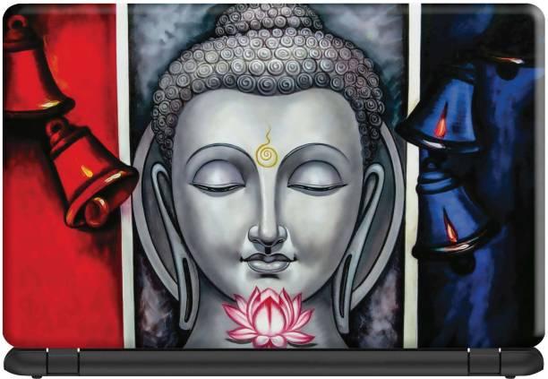 Make Unique Lord Buddha Triple Effect Background Laptop Skin Stickers Design SLFDD790 Vinyl Laptop Decal 15.6