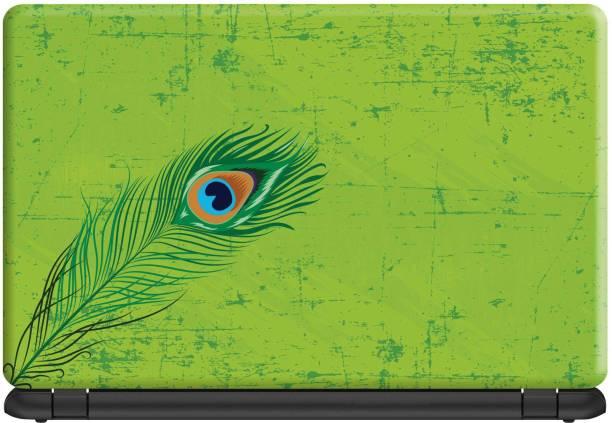 Make Unique Feather on Texture Background Laptop Skin Stickers Design LSFD854 Vinyl Laptop Decal 15.6