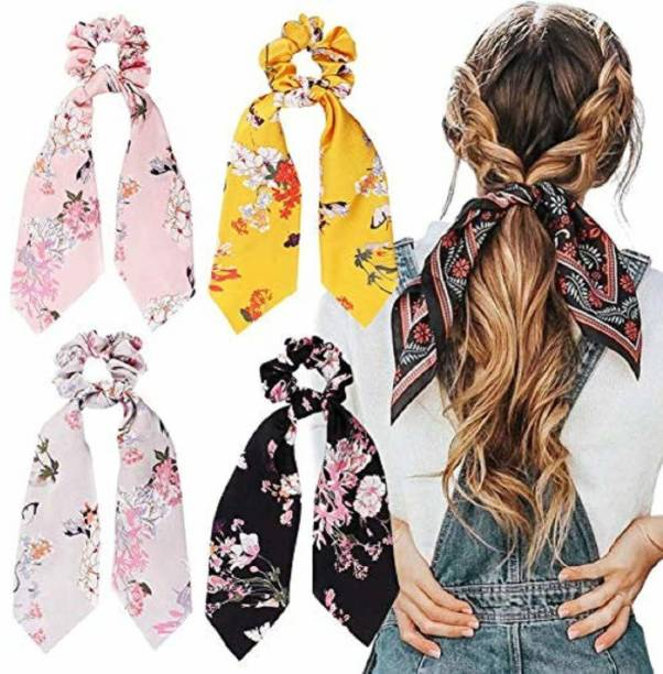 Sk creations ponytail holder rubber band 4 pcs Makeup Headband