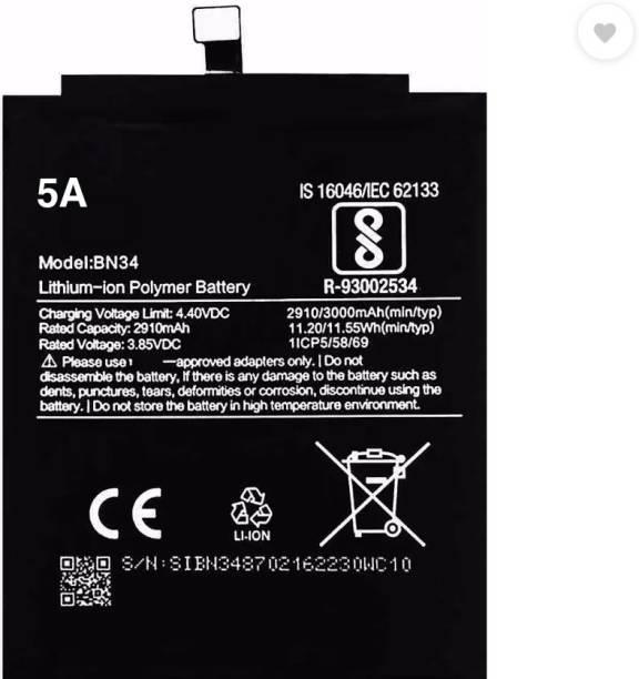 Amnicor Mobile Battery For  Xiaomi Redmi 5A/BN34