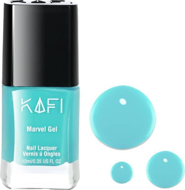 KAFI Gel Nail Polish- Long lasting, Non Toxic, High Shine, Vegan, 10-Free Formula, SalonPro - (Light Blue) Sea You Soon