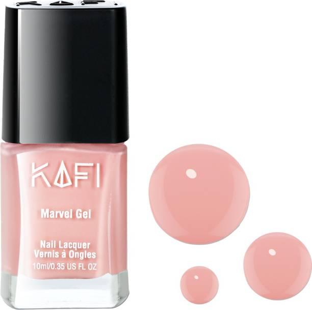 KAFI Gel Effect Nail Polish- Long lasting, Non Toxic, High Shine, Vegan, 10 Free Formula, SalonPro-(Nude Pastel Shade) In Birthday Suit