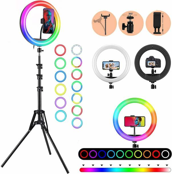 """ARHUB LED 10"""" Inch Soft Ring Light, RGB Flash Ring Light for Camera Smartphone YouTube Video Shooting and Makeup, Light for Reels , Vigo and Many More Ring Flash"""