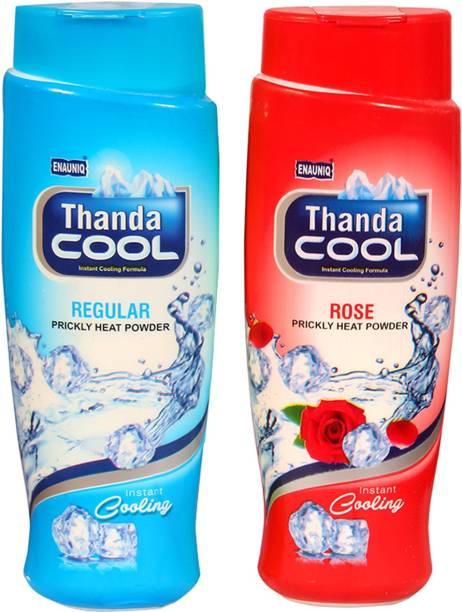 ENAUNIQ Thanda Cool Prikly heat powder 150g (Regular ,Rose)