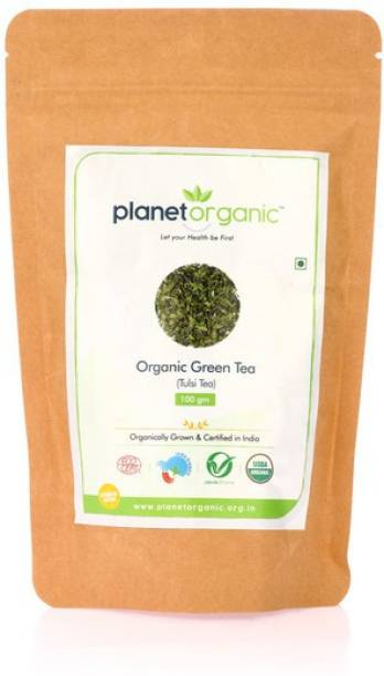 Planet Organic India Organic Green Tea (Tulsi) Tulsi Green Tea Vacuum Pack