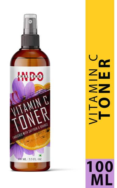 INDO CHALLENGE Lavender & Rose Skin Mist Toner, Clarifying and Pore Minimizing Balancing + Hydrating Toner   Green Tea and Basil   With Soothing Hyaluronic Complex & Vitamin C   100% Vegan   Sulphate and Paraben Free Men & Women Men & Women
