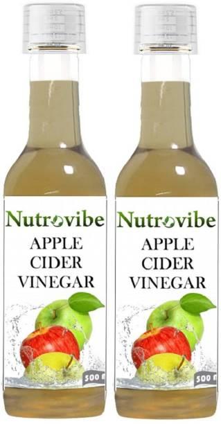 Nutrovibe Apple Cider Filtered Vinegar for Weight loss (Raw Vinegar) Vinegar