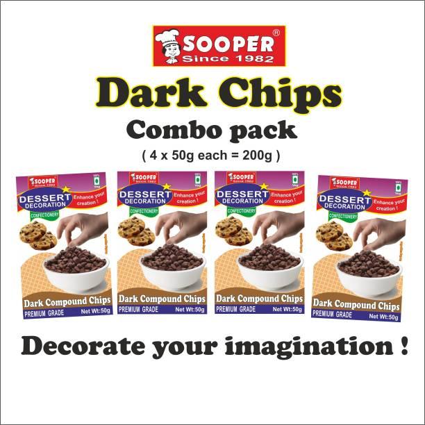SOOPER DESSERT DECORATION DARK COMP CHIPS 50g Chips