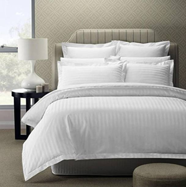 Amayra 300 TC Cotton, Satin Double King Solid Bedsheet
