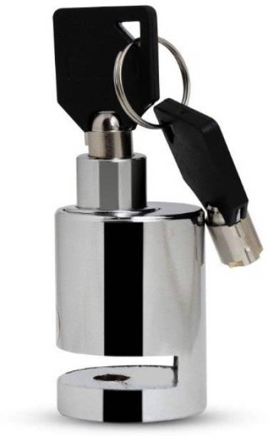 AXEWALL Heavy Duty Alarm Disc Lock For Bajaj Pulsar 220 DTS-i Disk-Round-Lock-Bike 123 Disc Lock