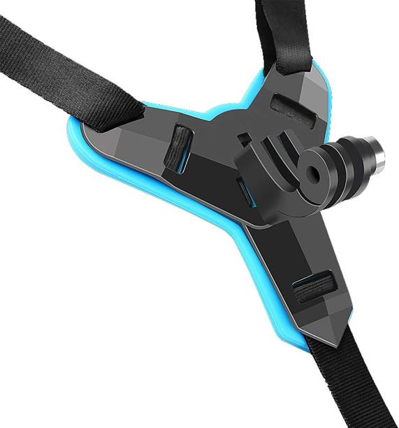 Adofys Motorcycle Helmet Chin Mount Front Chin Strap Holder Compatible with GoPro Hero 9/8/7/6/5/4/3 DJI Osmo Action/YI Action Camera Strap