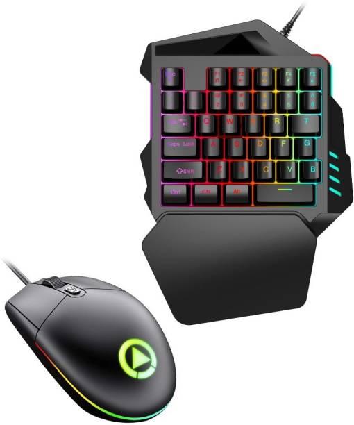 GAMER Premium Quality Mobile Gamming Keyboard & Mouse Combo Set