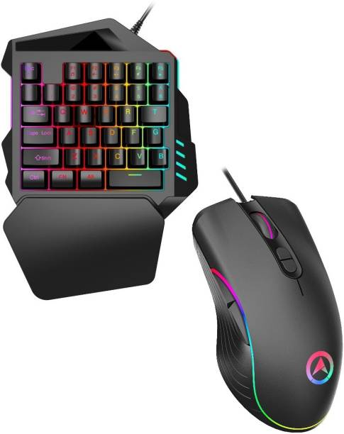 ePLAYERS Wired Mobile Gamming Keyboard & 7D Mouse with RGB Back light- Perfect Gaming Combo Combo Set