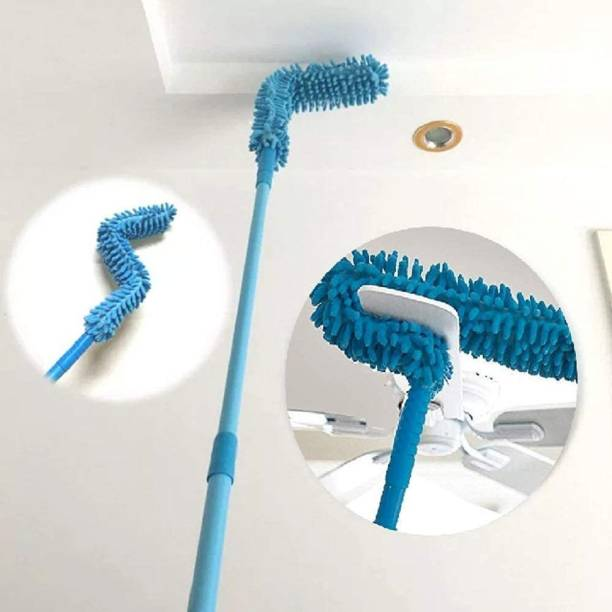 DEUSON ECOM Cleaning Brush Feather Microfiber Duster with Extendable Rod Dust Cleaner Fit Ceiling Fan Car Home Office Cleaning Tools Wet and Dry Duster Wet and Dry Duster Wet and Dry Duster Set Wet and Dry Duster Set
