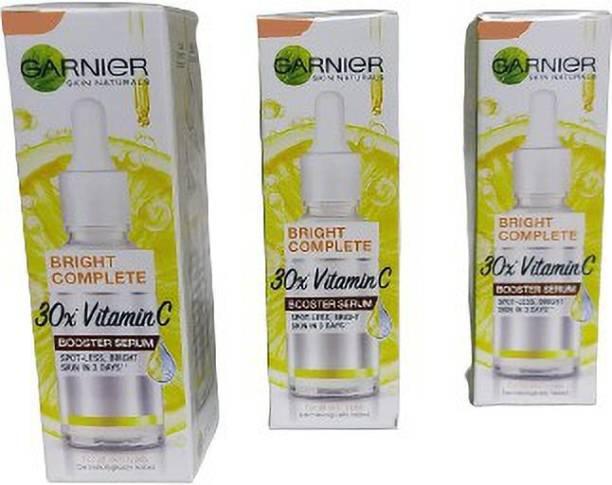 GARNIER Light Complete Vitamin C Booster Serum 15 ml - 3 Days to Spotless, Bright Skin   Light Texture Formula & Non-Oily Face Serum 15ml*3=45ml (PACK OF 3)