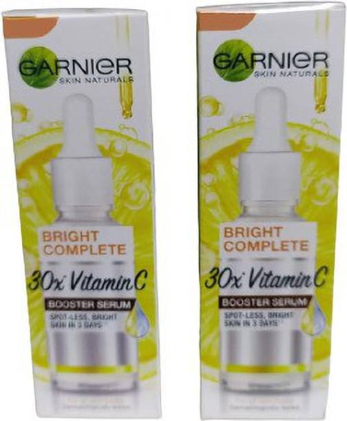 GARNIER Light Complete Vitamin C Booster Serum 15 ml - 3 Days to Spotless, Bright Skin   Light Texture Formula & Non-Oily Face Serum 15ml*2=30ml (PACK OF 2)