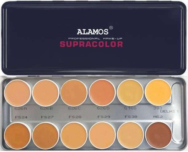 ALAMOS Foundation Palette 12 Color ( Delhi-1 )  Foundation