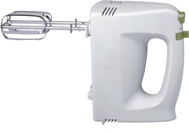 Wareflux 200W Hand Mixer   Beater/Blender/Eggbeater/Cream Maker for Cakes   With 5 Turbo Speed Control   2 Stainless Steel Beaters & 2 Dough Hooks   1 Year Warranty 200 W Hand Blender