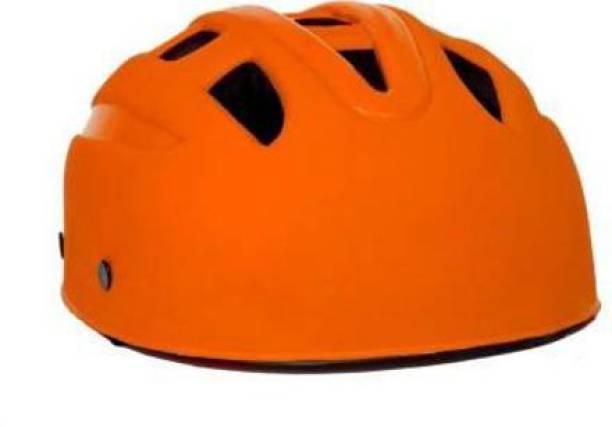 Benstar Multipurpose Sports Helmet For Skating, Cycling Adjustable Straps Helmet, (Orange) Cycling Helmet