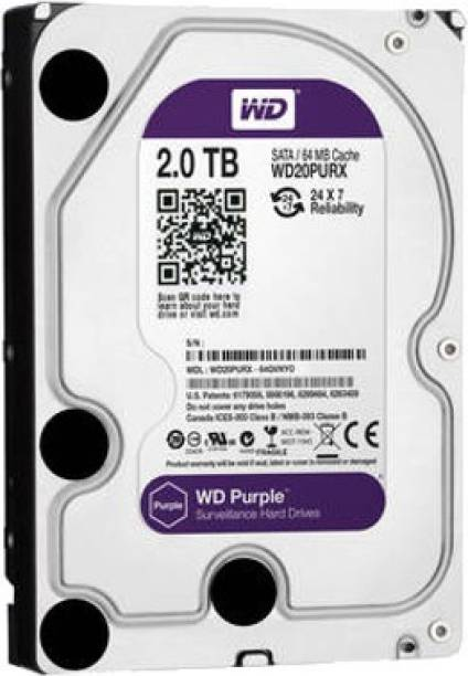 WD Purple Surveillance 2 TB Surveillance Systems Internal Hard Disk Drive (WD20PURX)