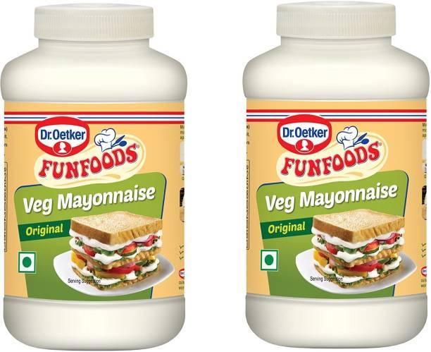 FUN FOODS Veg Mayonnaise Original 400 Gram Pack Of 2 800 g