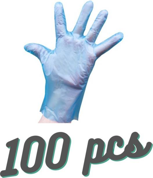 kodenipr Wet And Dry High-Density Multi-Purpose Clear Blue Eco-Friendly Plastic Polyethylene Cooking, Cleaning, Kitchen Food Handling Hand Gloves Set Polyisoprene Examination Gloves 100 pcs 50 pairs Polyisoprene Examination Gloves (Pack of 100) Polyisoprene Examination Gloves