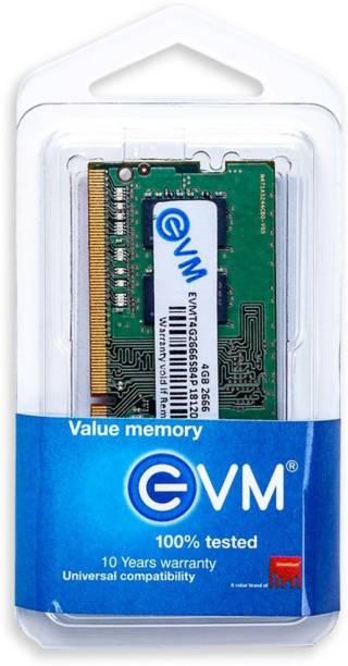 EVM DDR4 DDR4 4 GB (Dual Channel) Laptop (RAM 4GB DDR4 2666 MHz LAPTOP Memory)