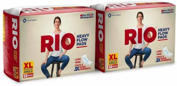 Rio HEAVY Flow Pads Long Wide Thick XL Size from every Angle Sanitary Pad