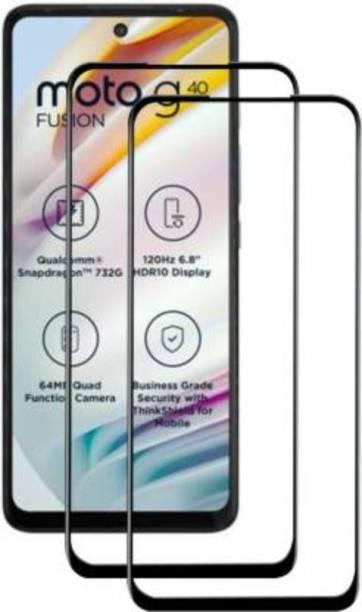 Trendzcase Edge To Edge Tempered Glass for Motorola G40 Fusion
