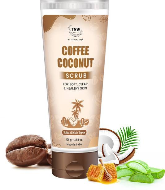 TNW - The Natural Wash COFFEE COCONUT SCRUB FOR SOFT,CLEAN & HEALTHY SKIN SUITS ALL SKIN TYPES Scrub