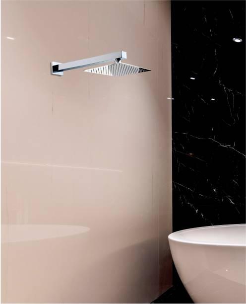 Alturas 8x8 (8inch) Heavy SS Ultra Slim Rain Shower Head with 18inch square Arm Shower Head