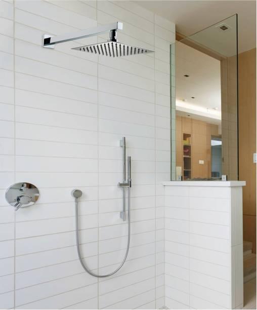 Alturas 6x6 (6inch) Heavy SS Ultra Slim Rain Shower Head with 12inch square Arm Shower Head