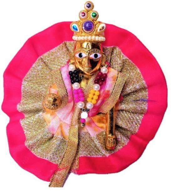 LOTUS RISE SIZE NO.03 100% Pittal Laddu Gopal Statue Pital Brass Murti Kanha ji with pushak Laddu Gopal Thakur Ji Metal ,Metal Laddu Gopal Baby Krishna Bal Gopal Thakurji SIZE 2 Decorative Decorative Showpiece  -  8 cm
