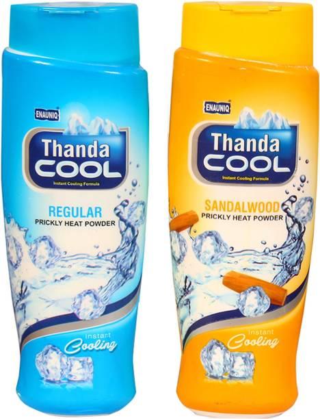 ENAUNIQ Thanda Cool Prickly heat powder 150g ( Regular , sandalwood )