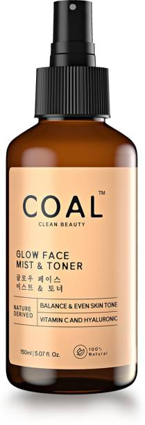 COAL CLEAN BEAUTY Face Mist & Toner with Vitamin C and Citrus Oil for oily & dry skin - pH balanced, no alcohol - Nature Derived Men & Women