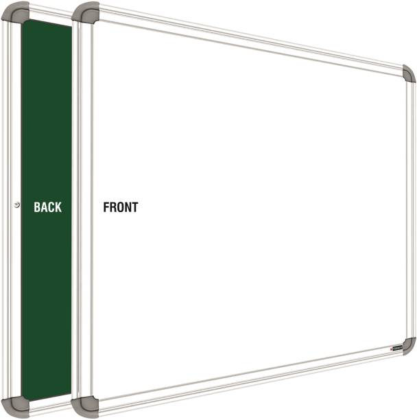 YAJNAS Non Magnetic 1.5 x 2 feet Whiteboard One Side White Marker and Reverse Side Chalk Board Surface Whiteboards Whiteboards
