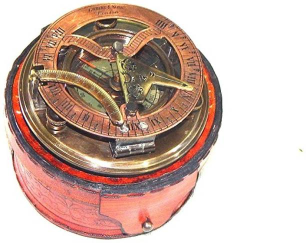 R S ENTERPRISES Gilbert Sundial Camping/Hiking Steampunk Accessory Compass