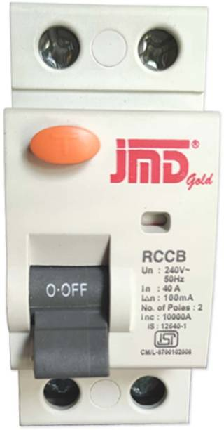 JMD GOLD Rccb Double Pole 40 AMP/100MA 240 V Residual Current Circuit Breaker ISI Mark RCB001 MCB