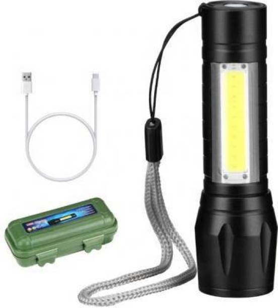 EPONYMOUS Mini Rechargeable Torchlight Super Biright Pocket Mini Zoom COB USB Charging Torch Led Flashlight Water Proof Torch