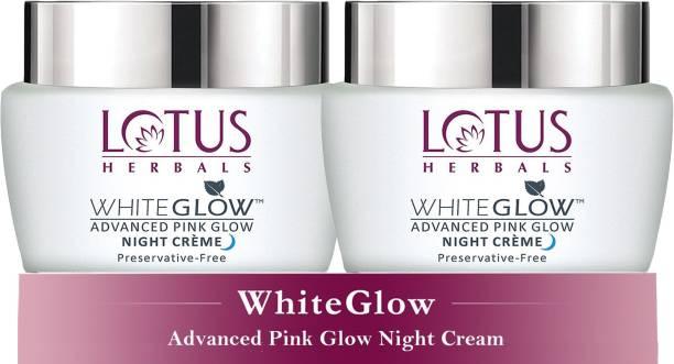 LOTUS HERBALS WhiteGlow Advanced Pink Glow Night cr�me ( Pack of 2 ) ( 50g * 2 )