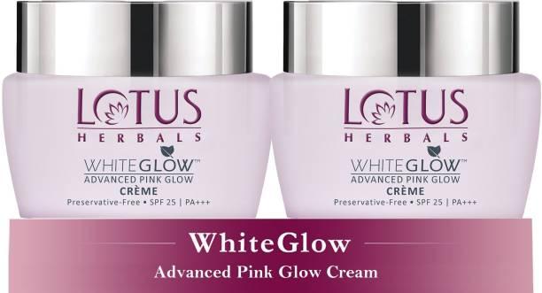 LOTUS HERBALS WhiteGlow Advanced Pink Glow Cr�me SPF 25 | PA+++ ( Pack of 2 ) ( 50gm * 2 )