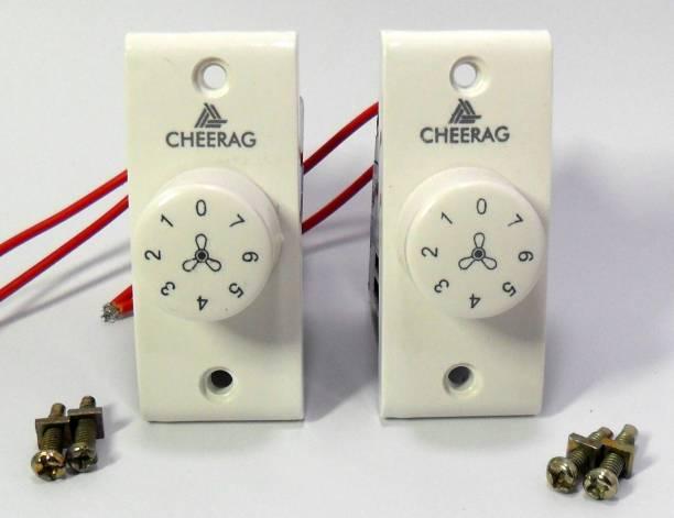 CHEERAGLIGHT SWITCH 7 STEP FAN REGULATOR [PACK OF 2 PCS] Step-Type Button Regulator