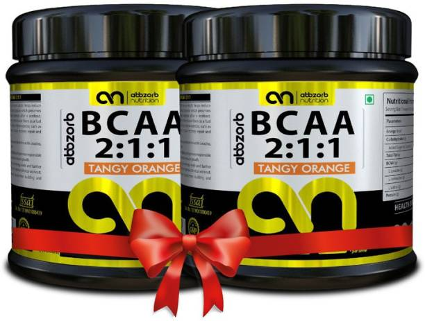Abbzorb Nutrition BCAA 2:1:1 (Tangy Orange) (400 G)(Pack of 2) Combo