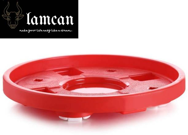 LAMCAN Multipurpose plastic gas cylinder trolley/water bottle trolley/kitchen rack Gas Cylinder Trolley