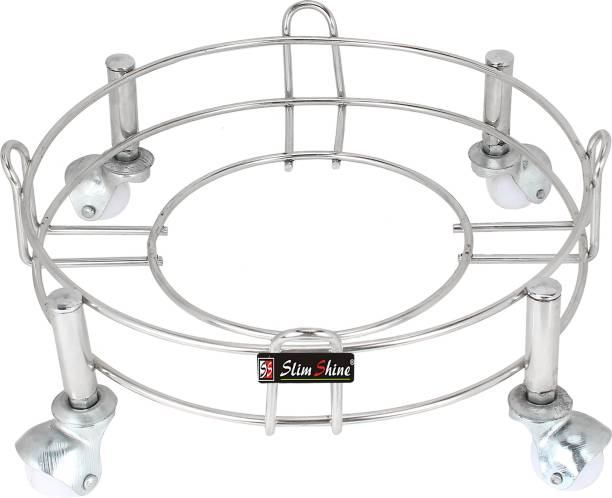 SLIMSHINE WHITE-HEAVY-TROLLY Gas Cylinder Trolley